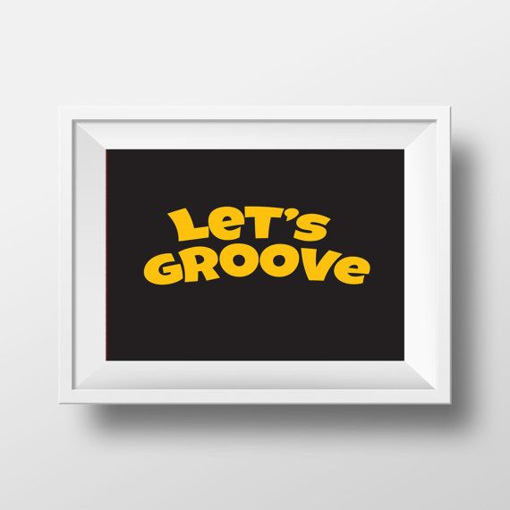 let's groove typography modern wall art decor wall by cre8corner