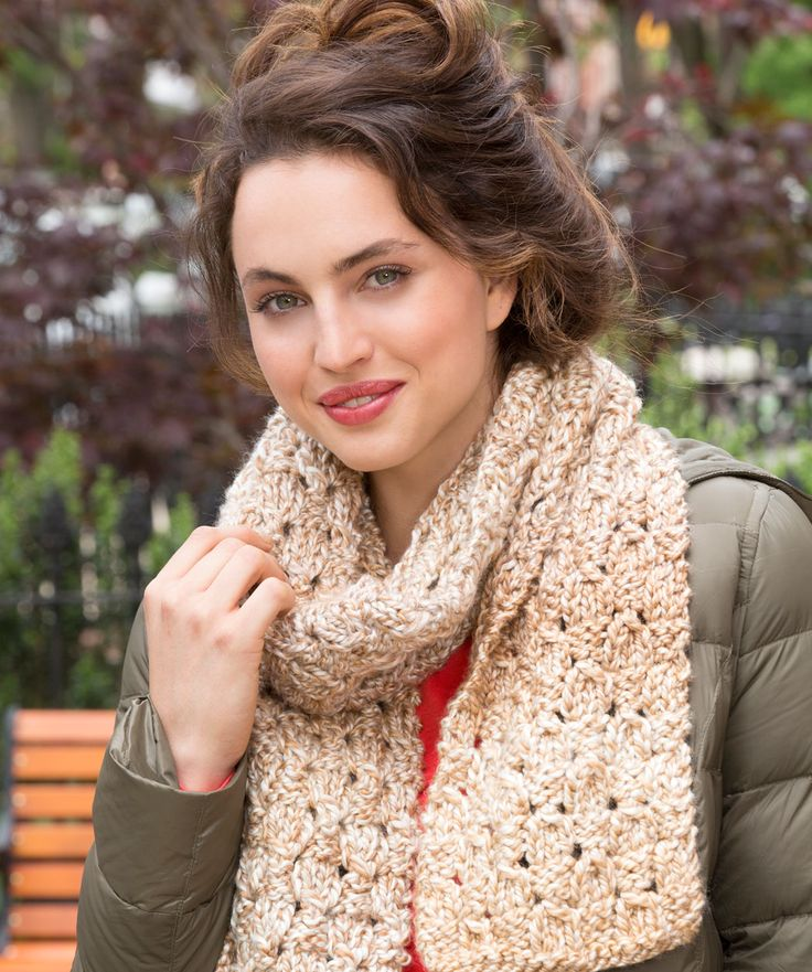 Dewdrop Scarf Free Knitting Pattern from Red Heart Yarns ...
