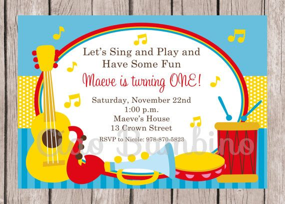 PRINTABLE Music Birthday Party Invitation / Music by ciaobambino