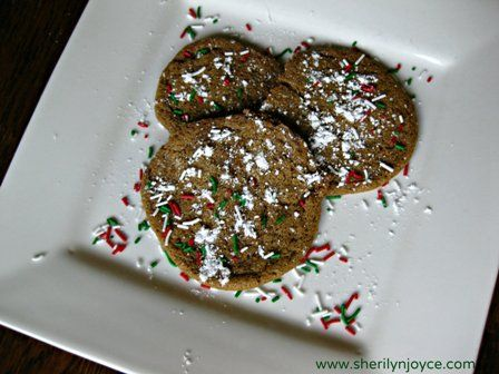 """Chewy Molasses Cookies  Find this recipe and many more in my FREE ebook """"The Gluten Free Holiday Survival Guide"""" ---> http://sherilynjoyce.com/gluten-free-holiday-recipes/"""