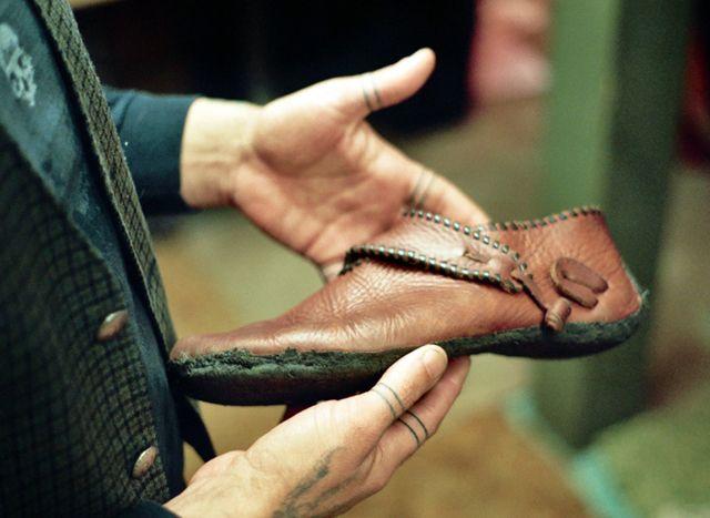 A Scandanavian style shoe recently handmade in Portland, OR. Photo courtesy of Marrow Magazine.