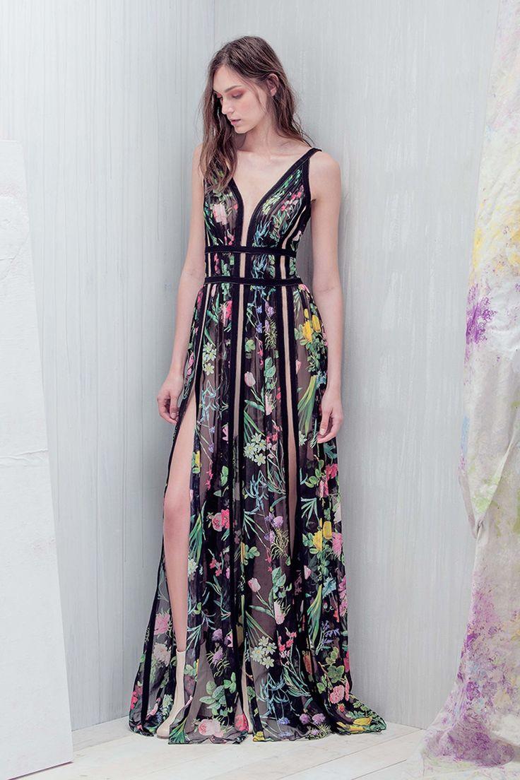 Tadashi Shoji   Resort 2017 collection   Sexy Spring floral dress