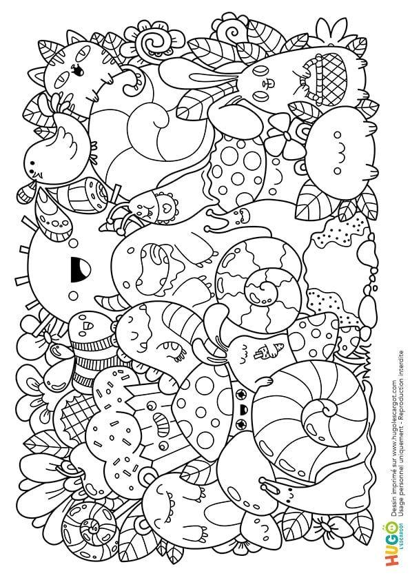 Coloriage Personnages Et Animaux Kawaii En Ligne Gratuit A Imprimer
