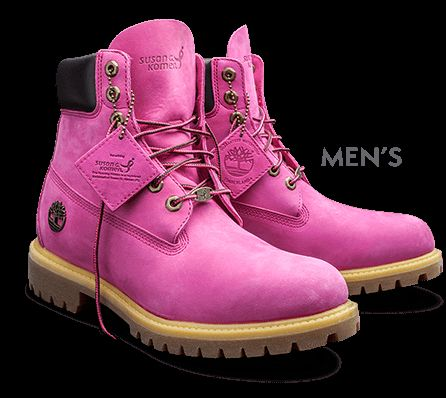 Timberland |PINK COLLECTION FOR SUSAN G KOMEN BREAST CANCER SUPPORT.  i KNOW THESE ARE MADE FOR MEN BUT I WOULD ROCK THESE ANY DAY WITH SOME LEGGINGS!!