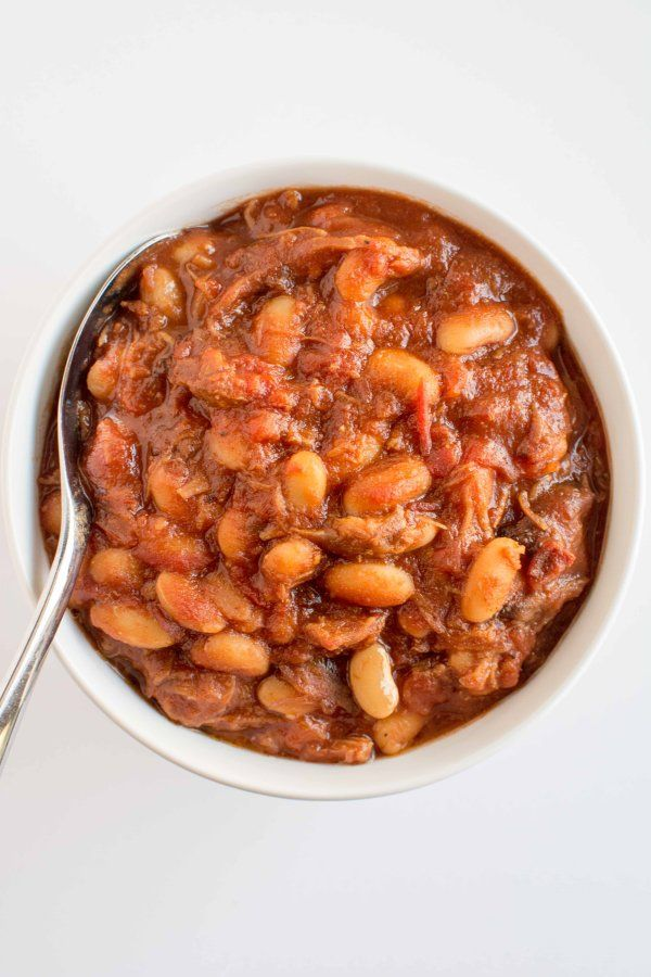 Get the recipe: slow-cooker pulled pork baked beans                   Image Source: Slow-Cooker Gourmet