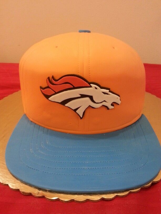 Denver Broncos Hat CAKE.....ALL EDIBLE.