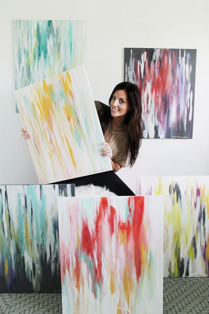 Chris Loves Julia: Six Abstract, Ikat-inspired Paintings from Me to You.