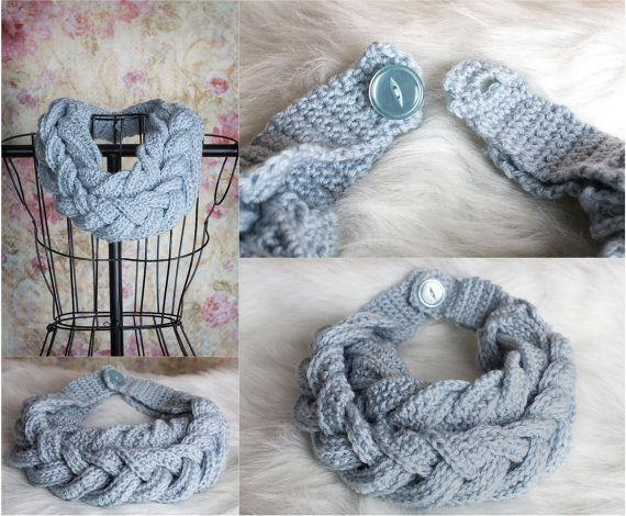 Double Braided Scarf Two braided infinity scarf by RuthiesDaughter