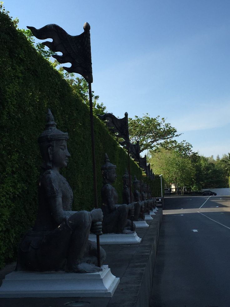 Thailand marriott kao lak, road entrance view
