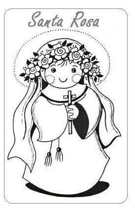 Resultado de imagen para santa rosa de lima manualidades