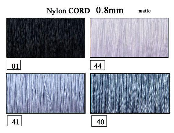 Nylon Cord 0.8mm 10 meters exclusive cord Shamballa by EuforioArt