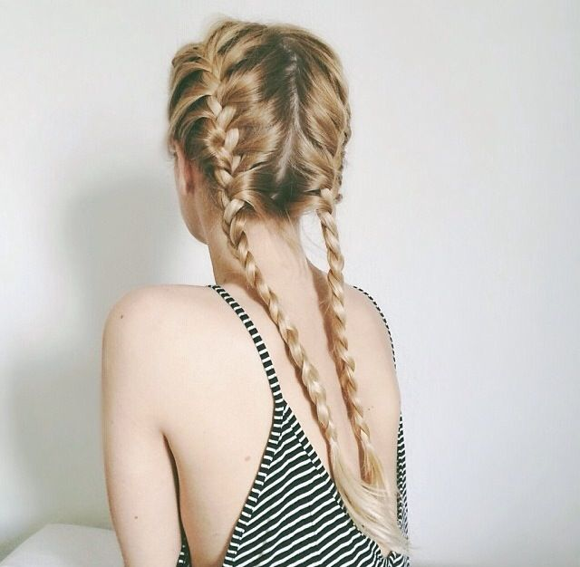 16 Cute Summer Hairstyles For Long Hair - Be Modish - Be Modish: Frenchbraid, Hairstyles, Double Braid, Pigtail Braids, French Braid Pigtails, Beautiful, Braids Pigtail, Hair Style, Double French Braids