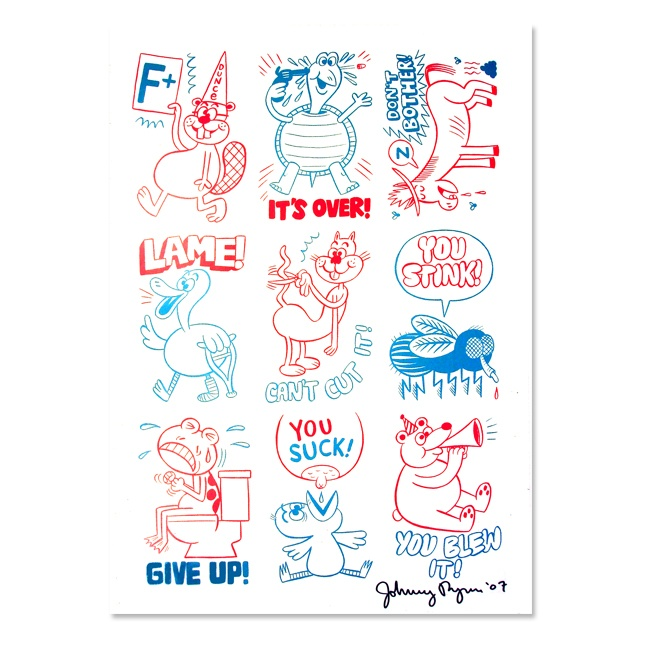 Stinckers Sticker Sheet - Johnny Ryan (F+)