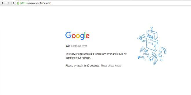 Milyonların kullandığı video paylaşım sitesi Youtube'a bugün saat 14:25 itibari ile girilmiyor. Üste...