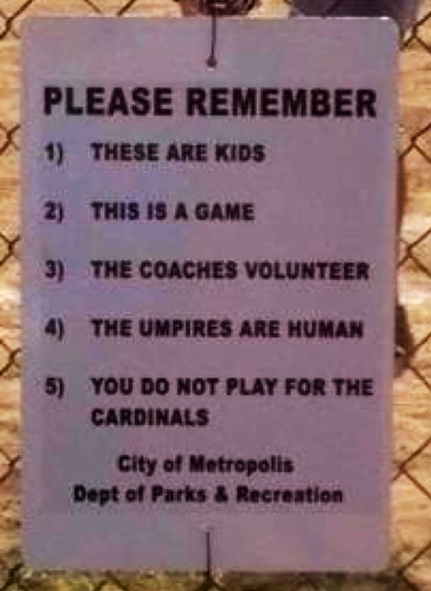 Love! Every ball diamond should have this sigh!