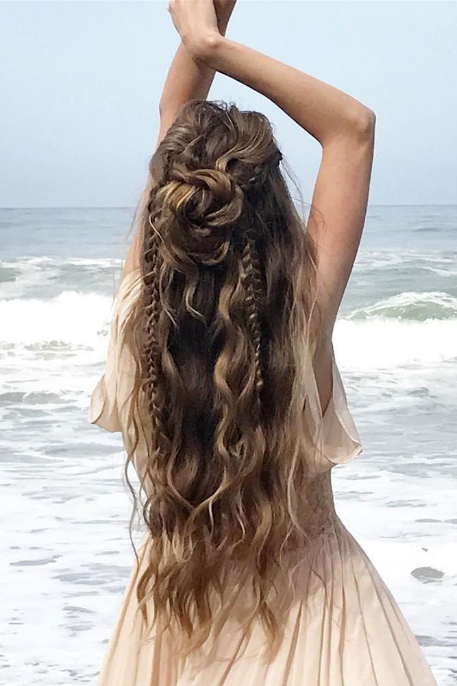 35 Boho inspired a unique and creative wedding hairstyle