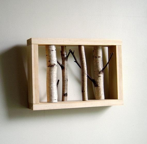 framed white birch branches