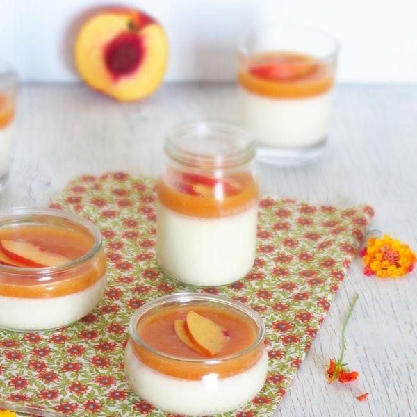 Varomeando: Crema de limón con coulis de nectarina