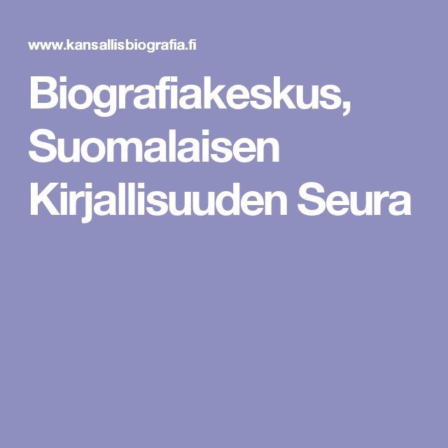 Biografiakeskus, Suomalaisen Kirjallisuuden Seura