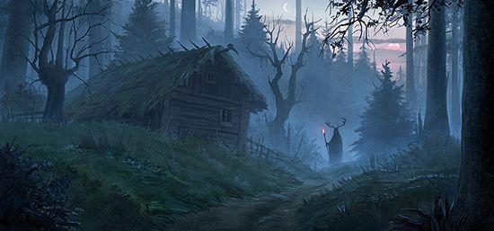 """WTF Quidditch 2016 - """"Колдовской лес"""" (авт. король под горой) иллюстрация к командному тексту """"Давным-давно"""""""