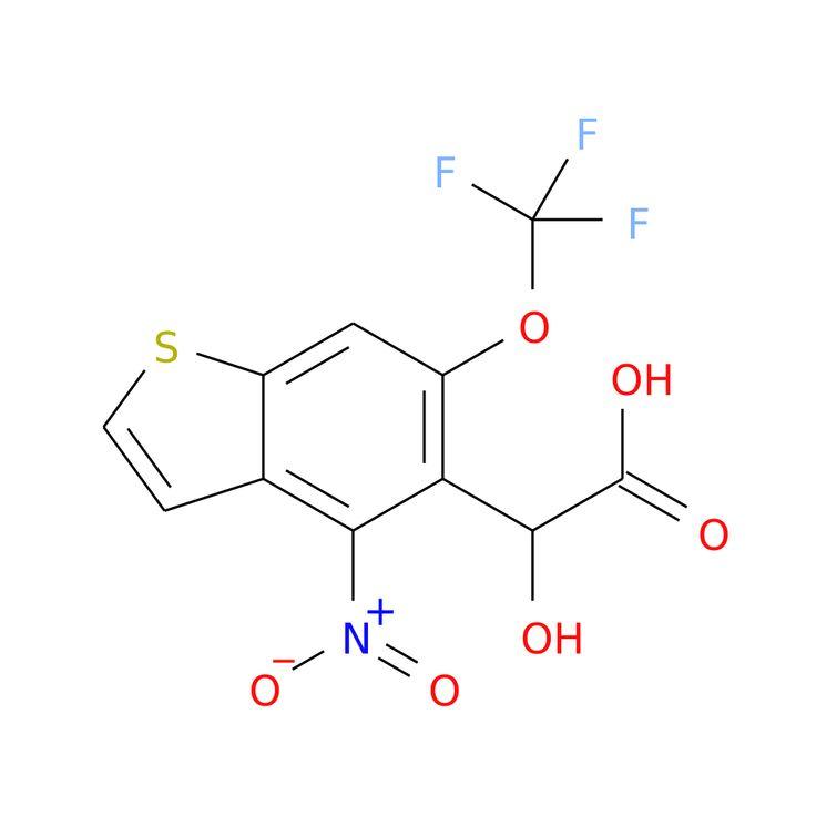 2-HYDROXY-2-(4-NITRO-6-(TRIFLUOROMETHOXY)BENZOTHIOPHENE-5-YL)ACETIC ACID is now  available at ACC Corporation