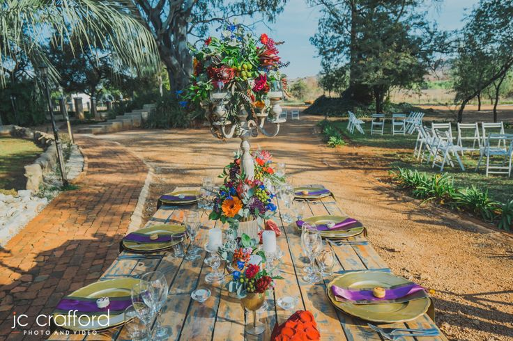 Outdoor ceremony weddings is absolutely wonderful for Winter and Spring. Casablanca Manor and Wedding Yard worked together on this stunning table. www.casablancamanor.co.za
