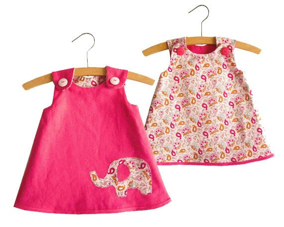 Reversible A Line Dress Pattern/ Toddler dress pattern/ Girl's Dress Pattern/ Baby dress patern/ Childrens Sewing Pattern.Size 0-24 months