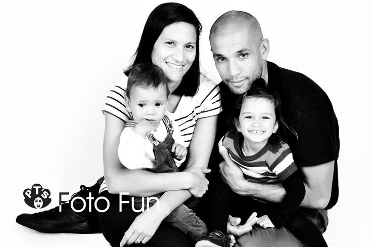 Beautiful traditional family portrait in Black & White