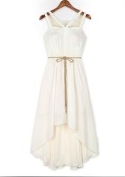 Romantic elegant fishtail harness dress