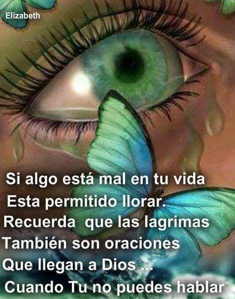Si algo está mal en tu vida, está permitido llorar y Dios enviará un ángel que te confortará.