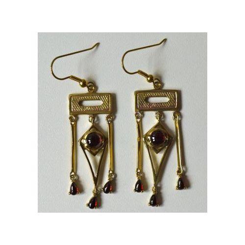 Les #boucles d'oreilles dorées en #grenat véritable inspirées du portrait de George #Sand par #Nadar Prix 69 euros TTC #art