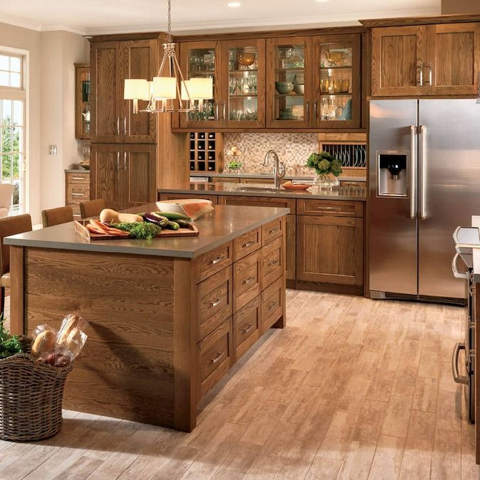 Shenandoah Mission 14 5625 In X 14 5 In Tawny Oak Shaker Cabinet Sample Lowes Com Beautiful Kitchen Cabinets Log Home Kitchens Kitchen Design
