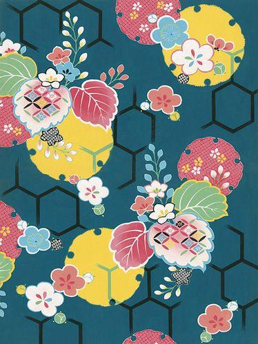 """ru_sashiko: Сумочка-клатч """"Японские цветы"""""""