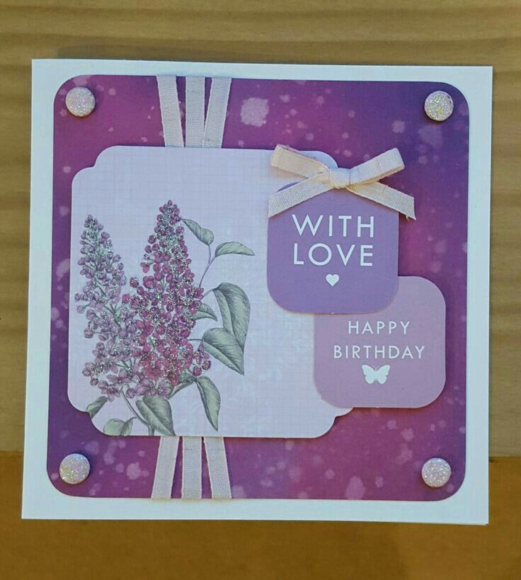 Distress it Background with Birds & Blooms topper by Craftwork Cards. Made by Jane Compton