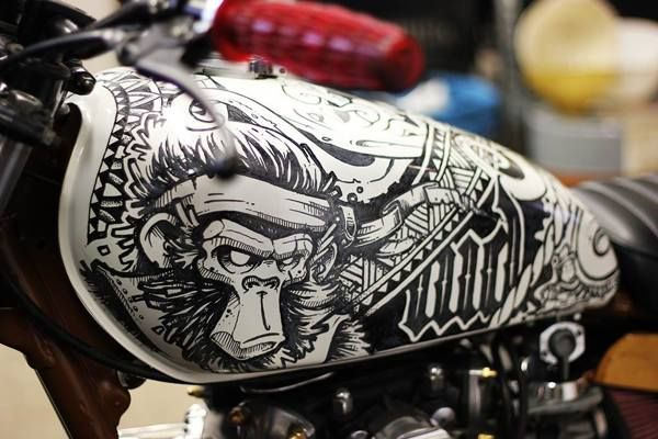 (Cool Kid Customs Yahama X650 by Wall Dizzy) motorcycles, rider, ride, bike, bikes, speed, cafe racer, cafe racers, open road, motorbikes, motorbike, sportster, cycles, cycle, standard, sport, standard naked, hogs, hog #motorcycles