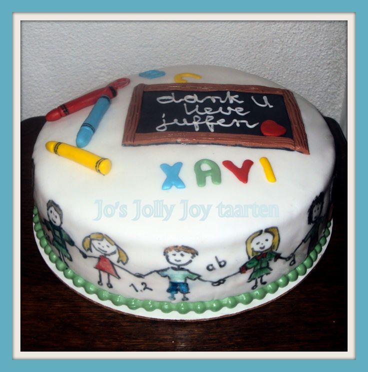 Jo's Jolly Joy taarten; een afscheids taart om de juffen op de peuteropvang te bedanken