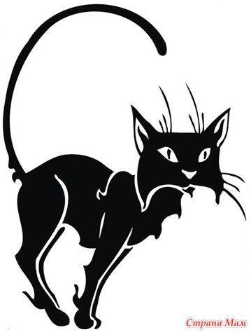 Трафареты кошек.