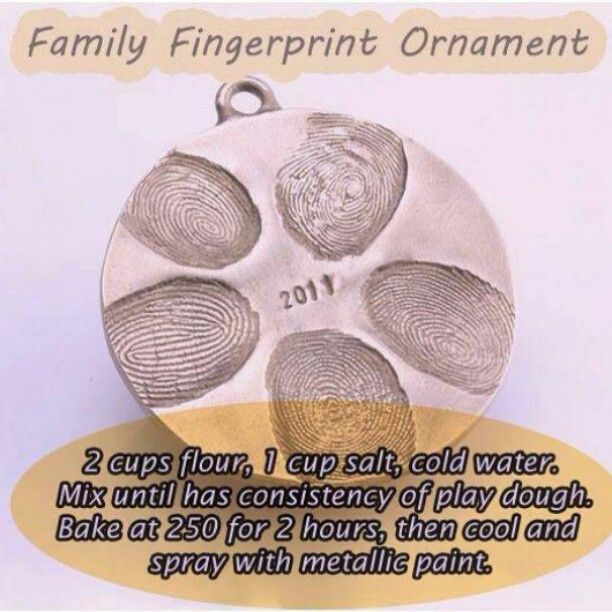 Family finger print ornament. Did something kind of like this for Danny for father's day.