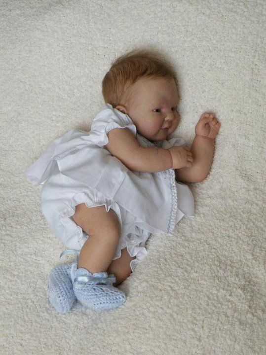 Angela Anderson baby made out of Polymer Clay. Absolutely amazing and adorable!