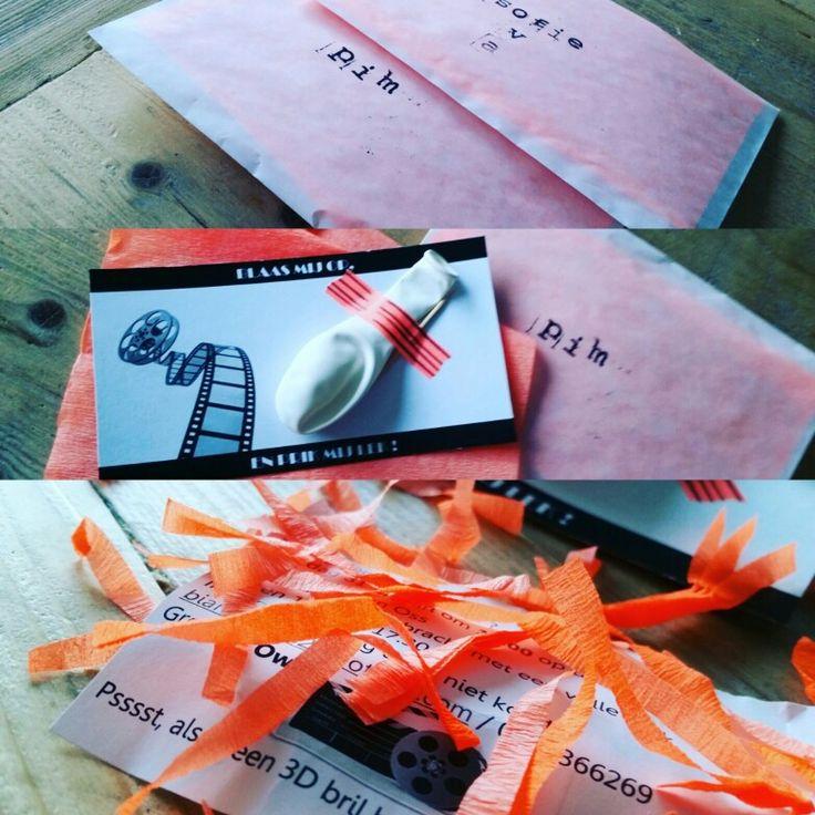 Uitnodiging verjaardagsfeestje -DIY #invitation #party