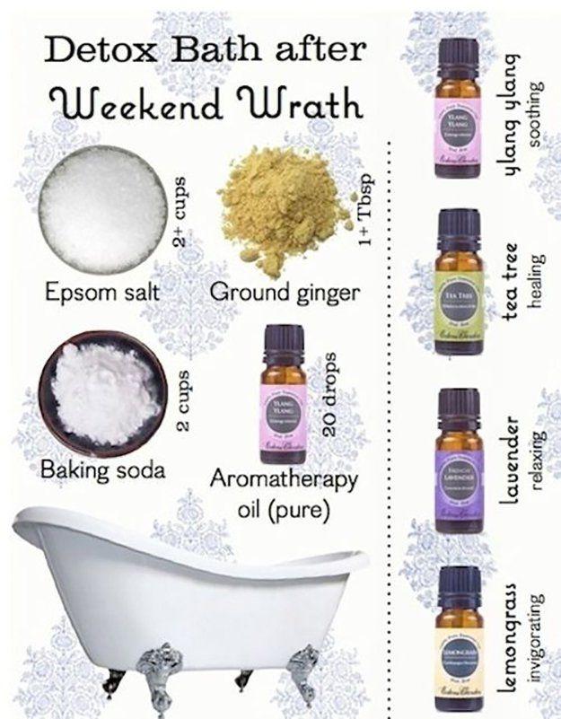 Detox Bath | 26 Home Remedies for Cold and Flu Season