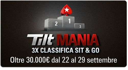 #bonus: tilt  mania #2 promotion – 3x prize pool – sit&go league http://www.creepingmold.com/wordpress/2013/09/23/bonus-tilt-mania-2-promotion-3x-prize-pool-sitgo-league/ Info here @ http://www.pokerstars.it/poker/promotions/tilt-mania/3xsng/?source=11546702  3x prize pool sit&go league tilt mania 2-9 promotion
