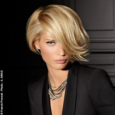 Frank Provost 2012. Paris Fatal. Blonde.  Square slightly asymmetrical. I Love his hairstyles.