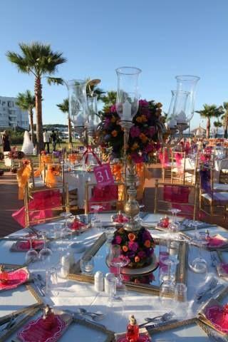 Table arrangement..