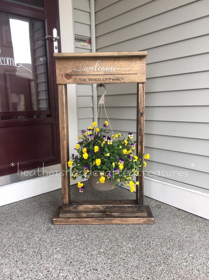 Pin By Pat Sugden On Flowers Porch Plants Plant Holder Diy Plant Hanger