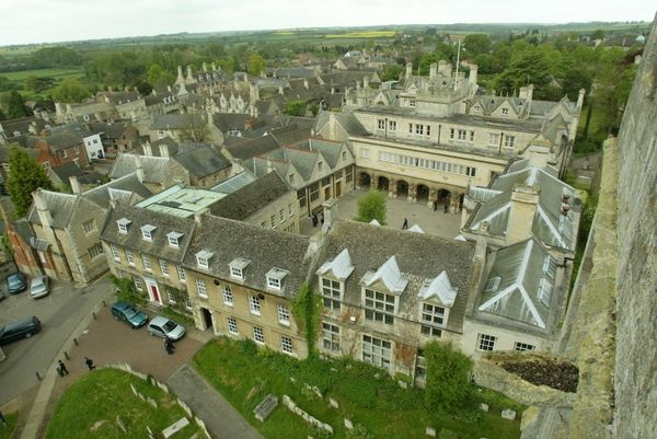 Oundle school arial view //