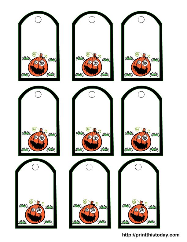 349 best halloween tags and printables images on pinterest free printable pumpkin face and spiders gift tags negle Choice Image