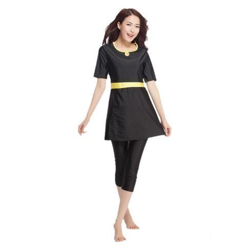 YONGSEN Modest Swimming Suit Women Muslim Swimwear Plus Size Modest Sh – Hard Core Sports