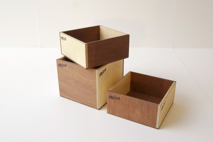 Wooden storage boxes - available at www.hebe.kiwi.nz