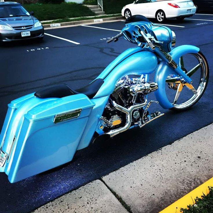 2013 Harley Street Glide Bagger Custom #harleydavidsoncustommotorcyclesclassiccars